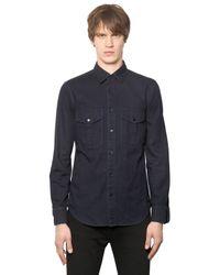 Burberry Brit | Blue Light Cotton Denim Shirt for Men | Lyst