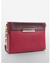 Calvin Klein | Purple White Label Valerie Top Zip Date Bag | Lyst