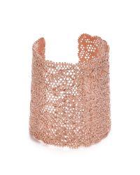 Aurelie Bidermann | Pink Vintage Lace Cuff | Lyst