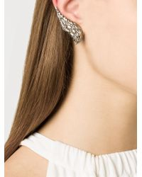 Venyx - Metallic 'lady Caiman' Diamond Earrings - Lyst