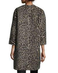 Isabel Marant - Multicolor Leopard-print 3/4-sleeve Coat - Lyst