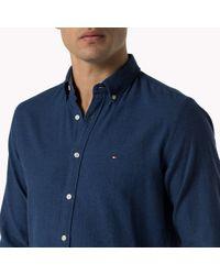 Tommy Hilfiger | Blue Woven Cotton Shirt for Men | Lyst