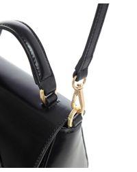 Lulu Guinness Black Polished Leather Mini Izzy Bag