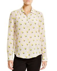 Weekend by Maxmara - Yellow Dondolo Silk Dot Print Blouse - Lyst