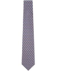 Ferragamo | Blue Foxes Silk Tie for Men | Lyst