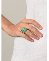 Aurelie Bidermann - Green 'navaho' Ring - Lyst