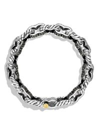 David Yurman | Metallic Pavé Carter Chain Bracelet with Black Diamonds and Gold for Men | Lyst