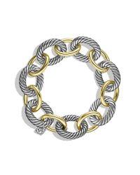 David Yurman - Metallic Oval Extralarge Link Bracelet with Gold - Lyst