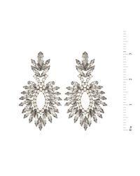 Elizabeth Cole | Metallic Cascading Navette Earrings | Lyst