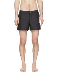 Givenchy - Black Rottweiler Patch Swim Shorts for Men - Lyst