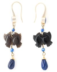Isabel Marant | Blue Fish Charm Earrings | Lyst