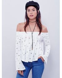 Free People | Natural Womens Cleo Top | Lyst