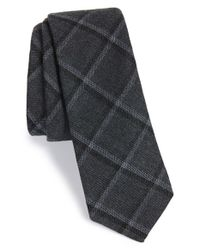 W.r.k. | Gray Grid Tie for Men | Lyst