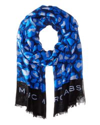 Marc By Marc Jacobs | Blue Leopard Print Scarf | Lyst