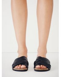 Free People - Black Intentionally Blank Womens Off The Horizon Slide Sandal - Lyst