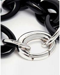Karen Millen | Black Resin Oval Link Bracelet | Lyst