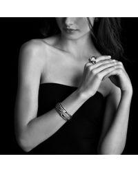 David Yurman - Metallic Labyrinth Tripleloop Cuff with Diamonds - Lyst