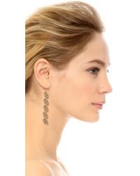 Miguel Ases | Metallic Harper Earrings - Slate Multi | Lyst