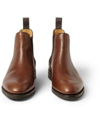 John Lobb - Brown Misty Leather Chelsea Boots for Men - Lyst