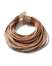 Brunello Cucinelli - Brown Multi-strand Leather Necklace - Lyst
