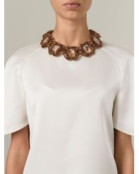 Night Market | Metallic Embellished Ribbon Necklace | Lyst