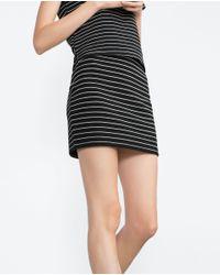 Zara   Black Mini Skirt   Lyst