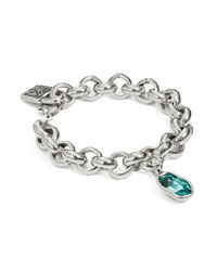 Uno De 50 | Metallic Sky Chainlink And Swarovski Crystal Bracelet | Lyst