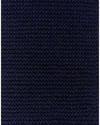 ASOS - Blue Scarf In Navy for Men - Lyst