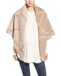 Tory Burch | Brown Wool & Cashmere Blanket Scarf | Lyst