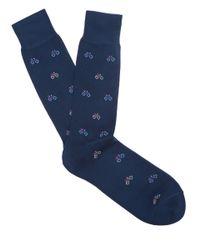Paul Smith - Blue Navy Bike Socks for Men - Lyst