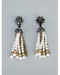 Lanvin   Black Beaded Earrings   Lyst