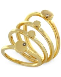 Vince Camuto - Metallic Gold-tone Crystal Stack Ring - Lyst