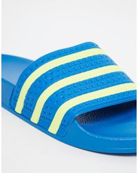 Adidas Originals | Blue Adilette Sliders B35626-321 for Men | Lyst