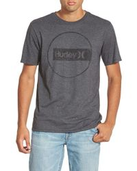 Hurley | Gray 'Construct - Premium' Graphic T-Shirt for Men | Lyst