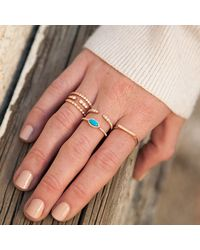 Anne Sisteron | Blue 14kt Yellow Gold Diamond Turquoise Mini Marquis Ring | Lyst