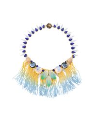 Tataborello - Blue Officina Fringes Necklace - Lyst
