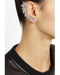 Ryan Storer - Metallic Oxidized Silverplated Swarovski Crystal Ear Cuff - Lyst
