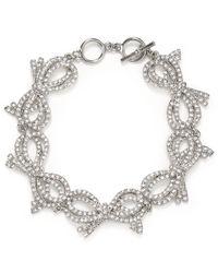 Carolee | Metallic Bowquet Link Bracelet | Lyst