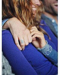 Free People | Metallic Ruskin Signet Ring | Lyst