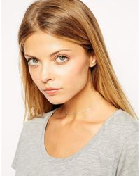 ASOS - Metallic Sterling Silver Choker Necklace - Lyst