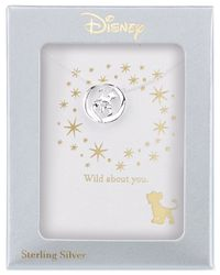 Disney - Metallic Lion King Simba Pendant Necklace In Sterling Silver - Lyst