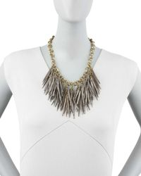 Ashley Pittman | Multicolor Grey Quill-bead Necklace | Lyst