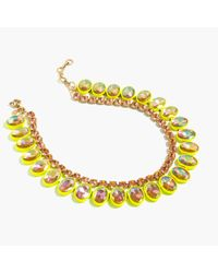 J.Crew | Yellow Layered Crystal Necklace In Lemon | Lyst