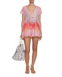 Athena Procopiou - Pink Little Wing V-neck Silk Dress - Lyst