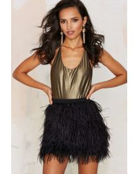 Nasty Gal | Black Birds Of A Feather Mini Skirt | Lyst