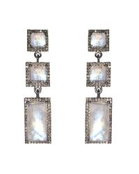 Adornia | Metallic Moonstone And Champagne Diamond Thompson Earrings | Lyst