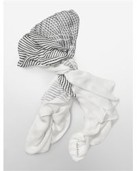 Calvin Klein | White Label Lightweight Abstract Circle Print Square Scarf | Lyst