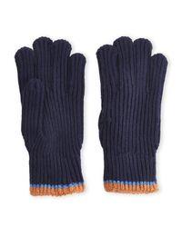 Ben Sherman - Blue Ribbed Knit Gloves for Men - Lyst