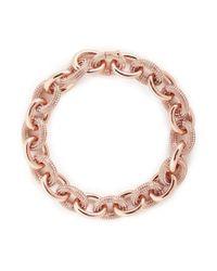 Atelier Swarovski - Pink 'kalix' Small Swarovski Crystal Pavé Chain Necklace - Lyst