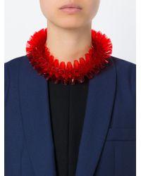 Mary Katrantzou   Red Ruffled Necklace   Lyst